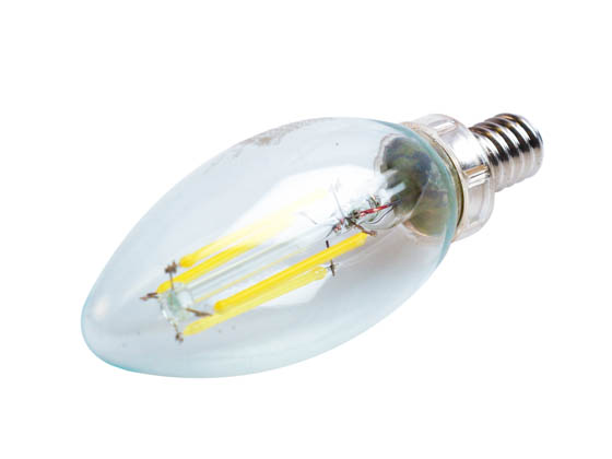Satco Products, Inc. S8839 4W CTC/LED/40K/CL/120V Satco Dimmable 4W 4000K Decorative Filament LED Bulb, Enclosed Rated