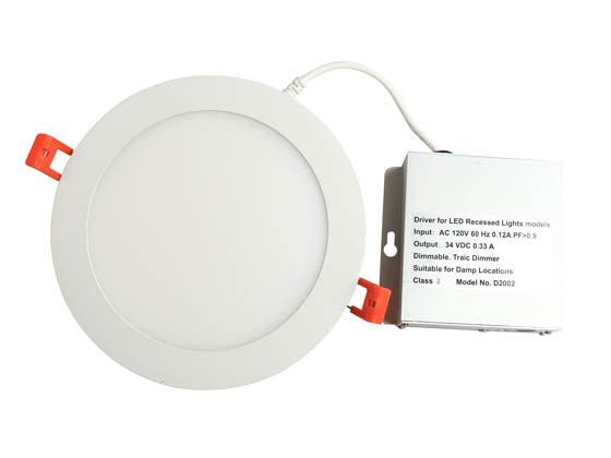 "TCP DDR60150 Dimmable 14 Watt 6"" Round 5000K Flat LED Downlight"