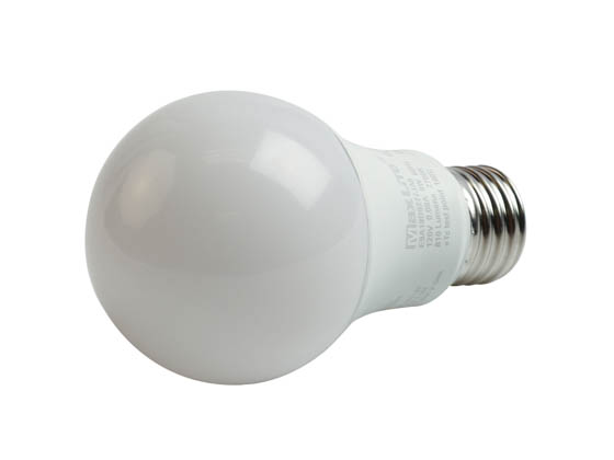 MaxLite 14099800 E9A19D927/JA8 Maxlite Dimmable 9W 2700K A19 LED Bulb, 92 CRI, JA8 Compliant, Enclosed Fixture Rated