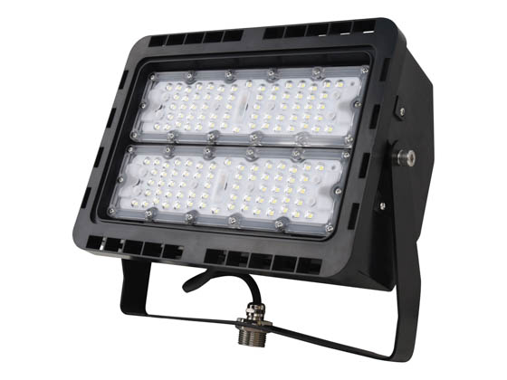 NaturaLED 7785 LED-FXFDL75/66/40K/BK Dimmable 75 Watt, 400 Watt Equivalent, 4000K LED Flood Light Fixture