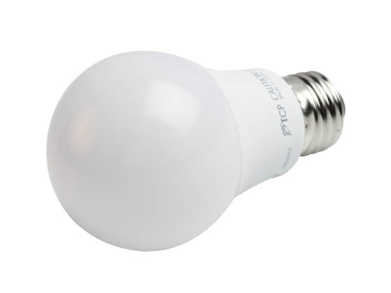 TCP L60A19N1550K Non-Dimmable 9 Watt 5000K A-19 LED Bulb, Enclosed Rated