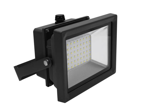 MaxLite 14098959 FLS40U50BP1/G2 Maxlite 300 Watt Quartz Halogen Equivalent, 40 Watt 5000K LED Flood Light Fixture with Photocell