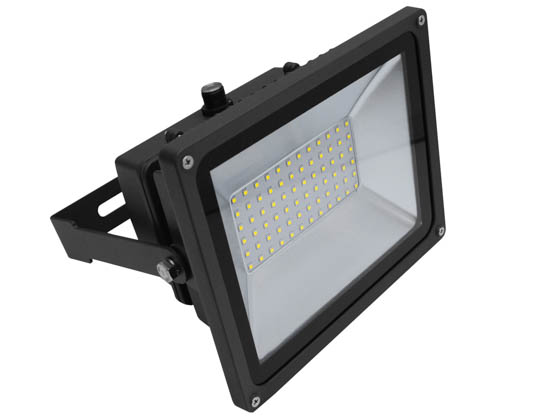 MaxLite 14098960 FLS50U50BP1/G2 Maxlite 500 Watt Quartz Halogen Equivalent, 50 Watt 5000K LED Flood Light Fixture with Photocell