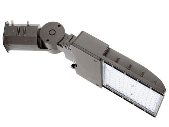 "Value Brand MAL0470W27V50KDSPT3 70 Watt, 250 Watt Equivalent, Dimmable 5000K Slim LED Area Light Fixture With 2 3/8"" Slip Fitter Mount, Type III"