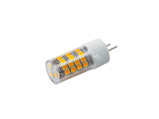 Bulbrite 770576 LED4GY8/30K/120/D Dimmable 4.5W 3000K T4 LED Bulb, G8 Base, Enclosed Rated