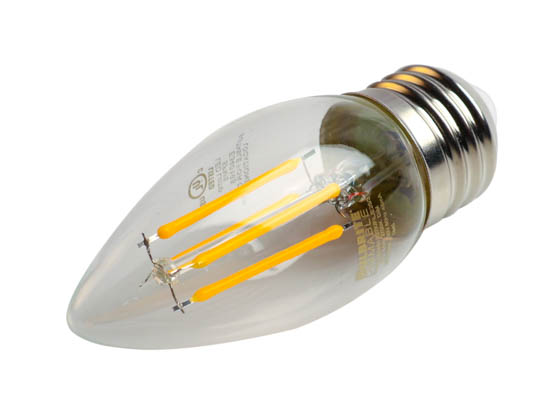 Bulbrite 776862 LED4B11/27K/FIL/E26/3 Dimmable 4.5W 2700K Decorative Filament LED Bulb, Enclosed and Outdoor Rated