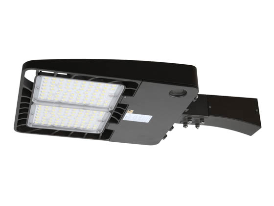 "Energetic Lighting 75049-EA E3SB350L3-750-EA Energetic 366W, 1000W Equivalent, Dimmable 5000K Slim LED Area Fixture With 6"" Arm and Photocell, Type III"