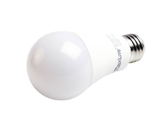 MaxLite 102406 E14A19NDV30RS Maxlite Non-Dimmable 14 Watt 3000K Rough Service A19 LED Bulb, Enclosed Fixture Rated