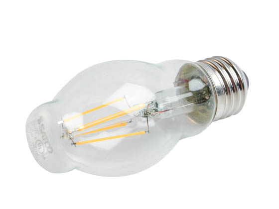Satco Products, Inc. S9575 4.5BT15/CL/LED/E26/27K/120V Satco Dimmable 4.5W 2700K BT15 Filament LED Bulb, Enclosed Fixture Rated