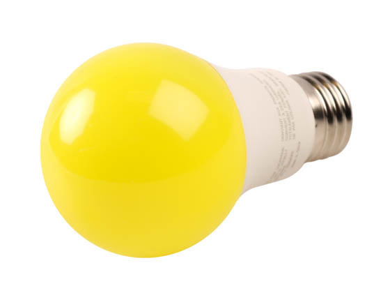 Greenlite Corp. 48580 9W/LED/A19/BUG Greenlite Non-Dimmable 9W Yellow A19 Bug Light LED Bulb, Enclosed Rated