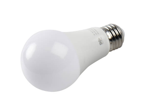 90+ Lighting SE-350.070 Dimmable 9 Watt 3000K 93 CRI A19 LED Bulb, JA8 Compliant & Enclosed Rated