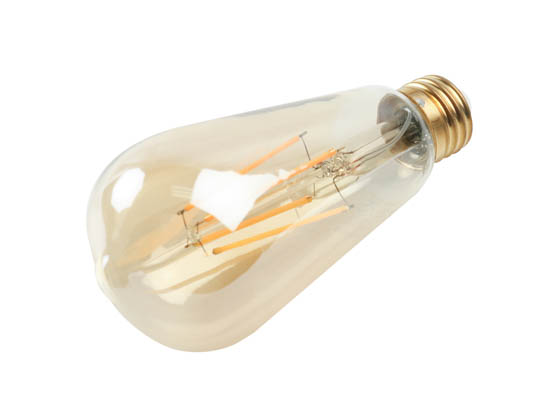 90+ Lighting SE-RCL06.1107-B Dimmable 7W 2200K Vintage ST19 Filament LED Bulb