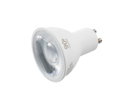 90+ Lighting SE-350.004 Dimmable 7W 2700K 24 Degree 91 CRI MR16 LED Bulb, GU10 Base, JA8 Compliant, Enclosed Rated