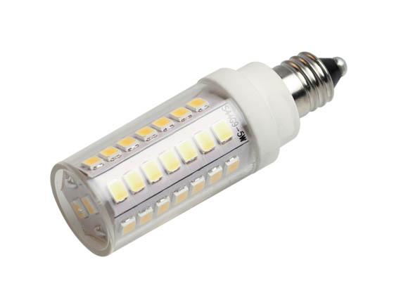 Bulbrite 770630 LED5E11/30K/120/D Dimmable 5W 120V T3 3000K LED Bulb, E11 Base, Enclosed Rated