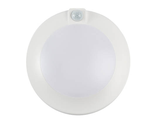 "Cyber Tech Lighting LC90RT6-DISK-MS/WW Cyber Tech 15 Watt Round 3000K 90 CRI Motion Sensing LED Downlight Disk, Fits a 3.5"" & 4"" J-Box"