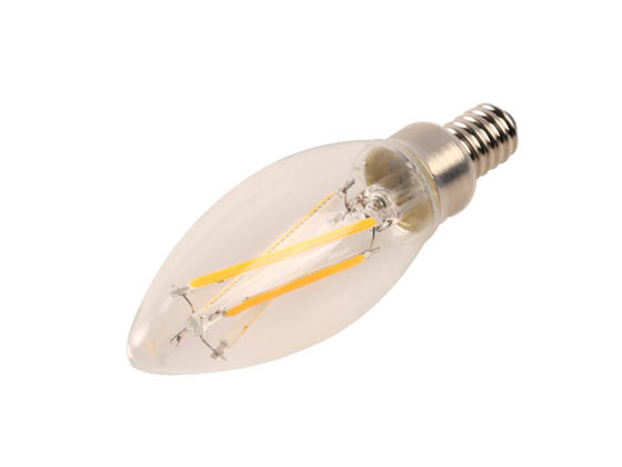 Cree Lighting B11-60W-P1-27K-E12-U1 Cree Pro Series Dimmable 5.3W 2700K Decorative Filament LED Bulb, Enclosed Rated, Title 20 Compliant