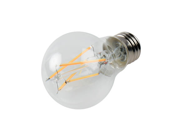 Bulbrite 776614 LED8A19/30K/FIL/3 Dimmable 8.5W 3000K A19 Filament LED Bulb, Enclosed and Wet Rated