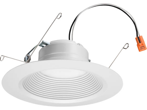 "Lithonia Lighting 240W39 65BEMW LED 40K 90CRI M6 Lithonia E-Series Dimmable 12 Watt 5/6"" 4000K Recessed Downlight, Baffle Trim, White"