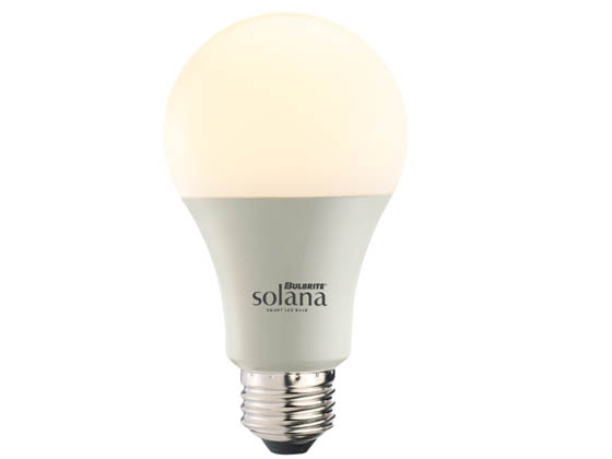 Bulbrite 190120 SL8WA19/W/FR/1P WiFi White Color Adjusted A19 LED Bulb, No Hub Needed, Title 24 Compliant