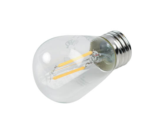 MaxLite 101418 F2S14ND27 Maxlite Non-Dimmable 2W 2700K S14 Filament LED Bulb, Enclosed and Wet Rated
