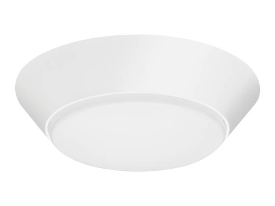 "Lithonia Lighting 224PR4 FMML 7 840 WL M6 Lithonia Versi Lite 7"" Dimmable 10W, 120V LED Flush Mount Fixture, 4000K, Wet Location, White"