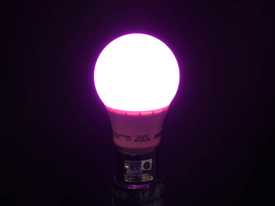 Energetic Lighting 15004 ELY03-AP-VB 40 Watt Equivalent, 3 Watt 120 Volt Non-Dimmable A-19 Pink LED Light Bulb, Enclosed Rated