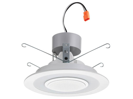 "Lithonia Lighting 260V5L 6SL RD 07LM 40K 90CRI MW M6 Lithonia Bluetooth-Enabled Integrated Wireless Speaker Dimmable 13 Watt 6"" 4000K Recessed Downlight, Baffle Trim, White, Wet Location"