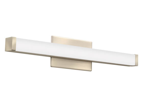 "Lithonia Lighting 2526TS FMVCSLS 24IN MVOLT 30K35K40K 90CRI BN M6 Lithonia Contemporary Square Profile 24"" Dimmable LED Vanity Fixture, Brushed Nickel, 3000/3500/4000K, 120-277V"