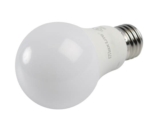 MaxLite 14099394-8 E9A19DLED27/G8 Maxlite Dimmable 9 Watt 2700K A19 LED Bulb, Enclosed Rated