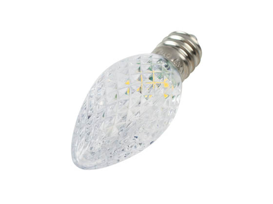 Green Watt GCH-C7-RM-WW 0.5W Warm White C7 Holiday LED Bulb with Faceted Lens, Outdoor Rated