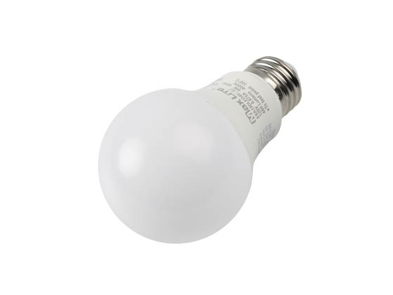 MaxLite 14099393-7 E6A19DLED40/G7 Maxlite Dimmable 6W 4000K A19 LED Bulb, Enclosed Fixture Rated
