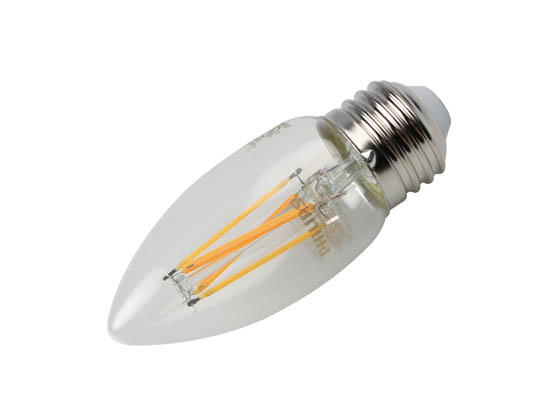 Philips Lighting 549584 3.3B11/PER/927-922/CL/G/E26/WGX 1FB T20 Philips Dimmable 3.3W Warm Glow 2700K-2200K 90 CRI Decorative LED Bulb, E26 Base, Wet Rated, Title 20 Compliant