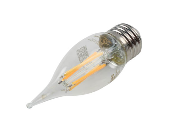 Philips Lighting 549576 5.5BA11/PER/927-922/CL/G/E26/WGX 1FB T20 Philips Dimmable 5.5W Warm Glow 2700K-2200K 90 CRI Decorative LED Bulb, E26 Base, Wet Rated, Title 20 Compliant