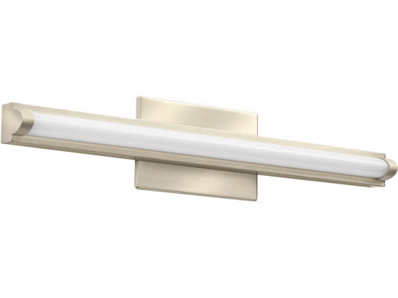 "Lithonia Lighting 2526WR FMVCALS 24IN MVOLT 30K35K40K 90CRI BN M6 Lithonia Contemporary Arrow Profile 22"" Dimmable LED Vanity Fixture, Brushed Nickel, 3000/3500/4000K, 120-277V"