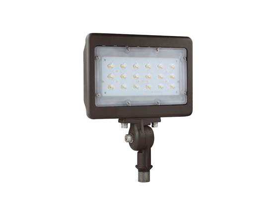 "NaturaLED 9316 LED-FXFDL30/77/50K/BZ-KNC 175 Watt HID Equivalent, 30 Watt 5000K LED Flood Light Fixture With 1/2"" Threaded Knuckle"