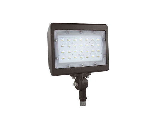 "NaturaLED 9318 LED-FXFDL50/77/50K/BZ-KNC 250 Watt HID Equivalent, 50 Watt 5000K LED Flood Light Fixture With 1/2"" Threaded Knuckle"