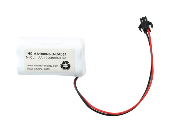 Value Brand NC-AA1000-3-D-CA051 3.6 Volt 1000 mAh Ni-Cad Battery, 3 AA Cells, Triangle Configuration