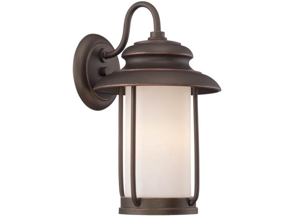 Satco Products, Inc. 62-631 Bethany 10W LED SM Wall Lantern Satco Bethany 10 Watt LED Small Wall Fixture, 3000K