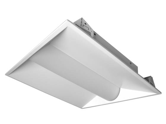 MaxLite 14099886 MLVT22D2040/SBMS Maxlite Dimmable 20 Watt 4000K 2x2 ft LED Recessed Troffer Fixture with Bi-Level Motion Sensor