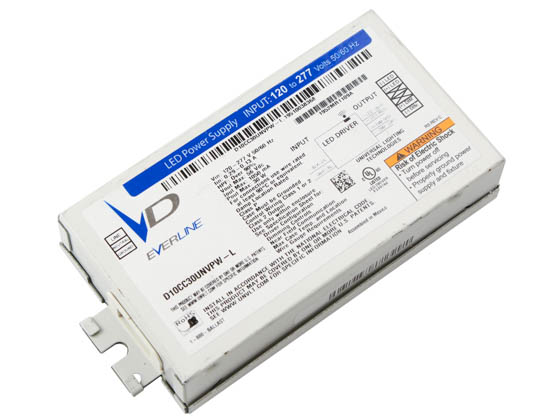 Everline D10CC30UNVPW-L010C Universal 30 Watt 1050mA Dimmable Programmable Constant Current LED Driver
