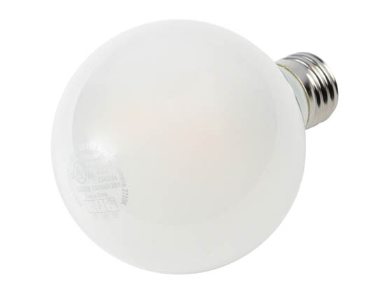 MaxLite 103770 EFF4.5G25D27 Maxlite Dimmable 4.5 Watt 2700K G25 Globe LED Bulb, Enclosed Fixture and Wet Rated