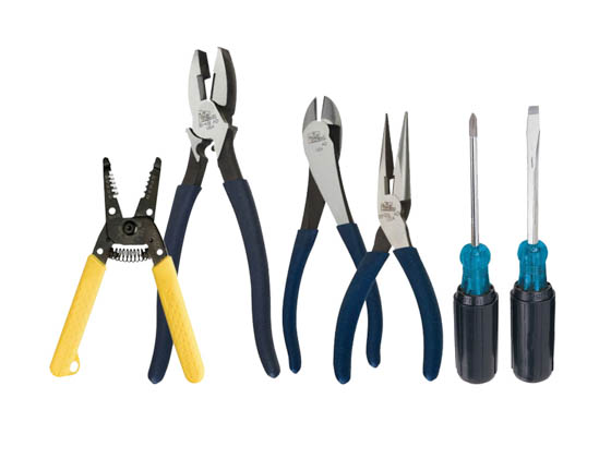 Ideal Industries 30-727 Ideal 6 Piece Electricians Set With Pliers, Screwdrivers and Wire Stripper