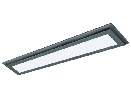 "Satco Products, Inc. 62-1186 30W/LED/7""X38""/FLUSH/3K/BRZ Satco Blink Plus 22 Watt 7""x38"" Surface Mount Fixture For Ceiling and Closets, 3000K, Bronze Finish"