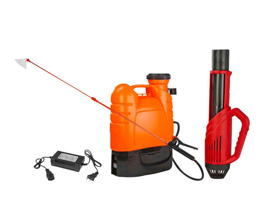 Larson Electronics IND-MD-DF-ESF-R3 Portable Battery Powered Electrostatic Sprayer and Cannon 6' Spray 4.2 Gallon Tank