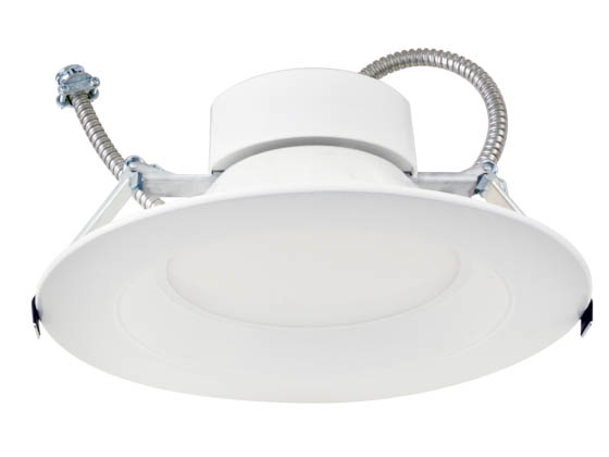 "MaxLite 104778 RCF814WCSDW 0-10V Dimmable Wattage Selectable (14W/17W/20W) and Color Selectable (3000K/3500K/4000K) 8"" LED Recessed Downlight"