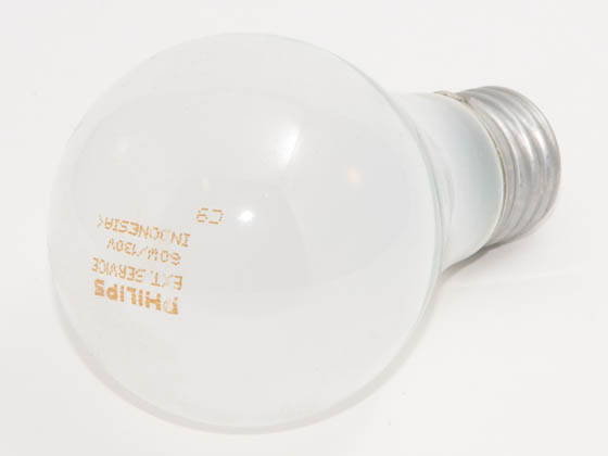Philips Lighting 222463 60A/99 (130V, Extended Service) Philips 60 Watt, 130 Volt A19 Frosted Long Life Bulb