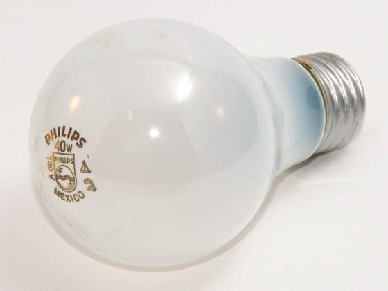 Philips Lighting 374660 40A (130V) Philips 40 Watt, 130 Volt A19 Frosted Bulb