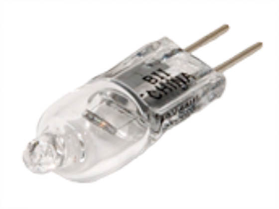 Bulbrite 650010 Q10G4/12 (12V) 10W 12V T3 Clear Halogen 4mm Bipin Bulb