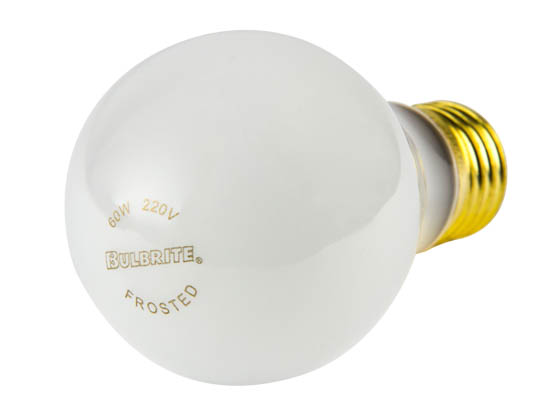 Bulbrite 120060 60A/220 (220V) INDUSTRIAL USE 60W 220V A19 Frosted Bulb, E26 Base