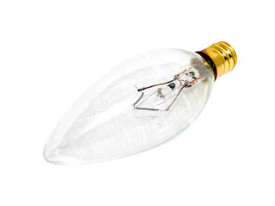 Bulbrite 400060 60CTC/32 (130V) 60W 130V Clear Blunt Tip Decorative Bulb, E12 Base